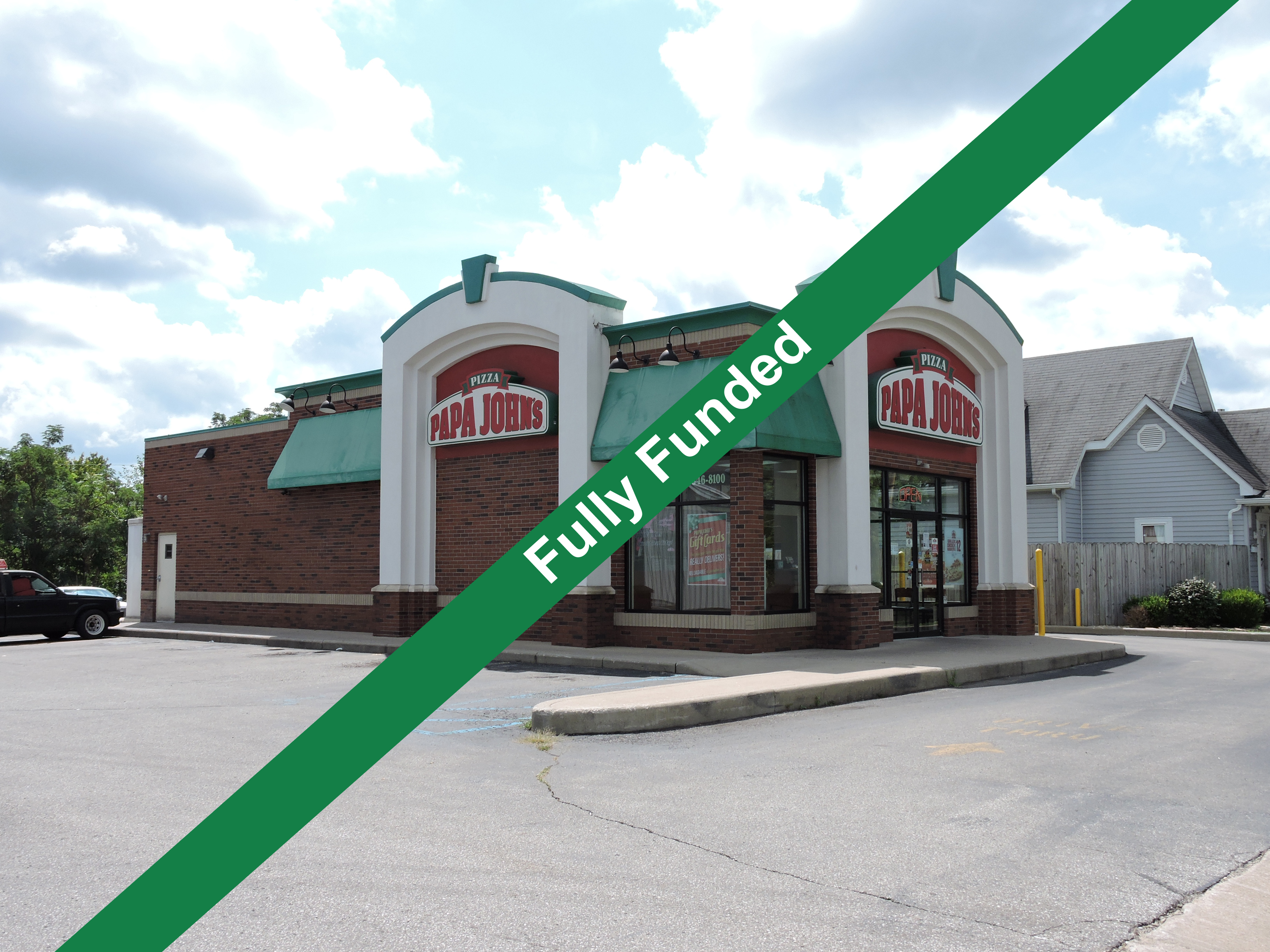 Papa John's Salem, Indiana| Crowdfunding Real Estate Investment Fully Funded